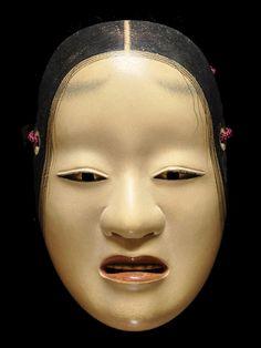 """Noh Mask """"Deigan"""" 能面「泥顔」寺井一祐"""