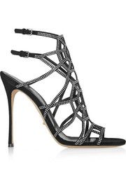 Sergio Rossi Puzzle Basic embellished suede sandals