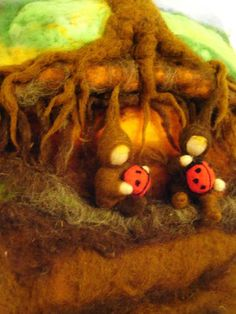 Needle felted Root children.
