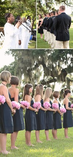 no shoes - like it. plantation wedding