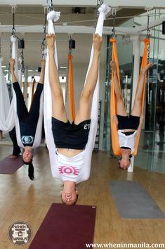Aerial Yoga, Should Stand - Nailed this one! Anti Gravity Yoga, Air Yoga, Yoga Hammock, Online Yoga Classes, Aerial Yoga, Aerial Silks, Yoga Photos, Stress, Ashtanga Yoga