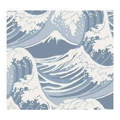 Cole & Son Wallpaper Great Wave Wallpaper (1.710 ARS) ❤ liked on Polyvore featuring home, home decor, wallpaper, backgrounds, pictures, fillers, photos, art, patterns and text