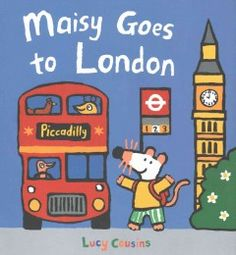 When Maisy and her friends visit London, they go on a whirlwind tour of the city on a double-decker bus, a water taxi, and an underground train.