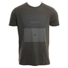 RVCA Mens Shirt Opposites Box Pirate Black