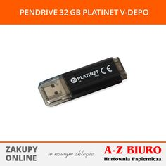 Pendrive o pojemności 32 GB w kolorze czarnym. Do podłączenia wykorzystuje złącze USB 2.0. Pamięć wykorzystuje technologię Plug & Play. POLECAMY!