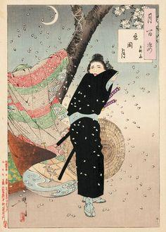 Tsukioka Yoshitoshi (Japan, 1839 - 1892), Shinobugaoka moon - Gyokuensai, from the series One hundred aspects of the moon, 1889, Art Gallery of new South Wales, Yasuko Myer bequest Fund 2012. Photo: AGNSW.