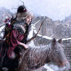 """Genghis Khan – """"The Mongol Warrior"""" (1162–1227) / Genghis Khan – """"O Guerreiro Mongol"""" / Gengis Khan, Gengis Cã ou Gengis Cão, grafado também como Genghis Khan (em mongol Чингис Хаан, transl. Tchinghis Khaan; 1162 — 18 de agosto de 1227) foi um conquistador e imperador mongol, nascido com o nome de Temudjin nas proximidades do rio Onon, perto do lago Baikal"""