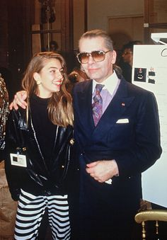 Sofia Coppola and Karl Lagerfeld in 1987.