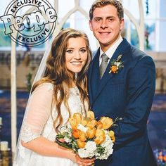 "Introducing Mr. and Mrs. Forsyth! From @people : ""Her big day has finally come: Joy-Anna Duggar is officially a married woman! On Friday, the 19-year-old said ""I do"" to Austin Forsyth, her fiancé of nearly three months, in front of a packed church full of family and close friends. ""We feel so happy and so excited,"" the couple tells PEOPLE exclusively. ""Leading up, it was so surreal until I was walking down the aisle and then I was like, 'Oh my goodness, it's actually here.'"" a teary-..."
