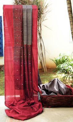 Lakshmi Handwoven Banarasi Tussar Silk Sari 000314 - Saris / Banarasi - Parisera