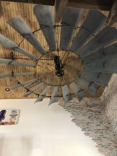 12 ft Windmill fan in our barndominium space