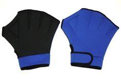Water Aerobics Aqua Fit Swim Training Neoprene Webbed Gloves Size M/L $9.95 (save $15.00)