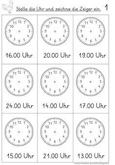 Uhr Vorlage Zum Ausdrucken Allgemeng Bastelen Pinterest