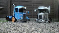 "Handcrafted Firepit Woodburner Trucks By Barry Wood @ ""CaddyshackCreations"".. https://m.facebook.com/LogWoodBurners"
