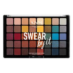NYX just dropped a brand-new 40-pan eyeshadow palette named Swear By It. Ahead, find out everything you need to know about the makeup launch. #eyeshadow #summermakeup #nyxmakeup #nyxeyeshadow #eyeshadowlooks #beauty
