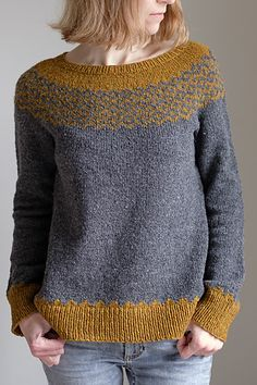 Ravelry: Noux pattern by Suvi Simola Ravelry: Noux pattern by Suvi Simola Jumper Knitting Pattern, Jumper Patterns, Knitting Patterns Free, Knit Patterns, Diy Laine, Pull Jacquard, Poncho, Fair Isle Knitting, Knitting Designs