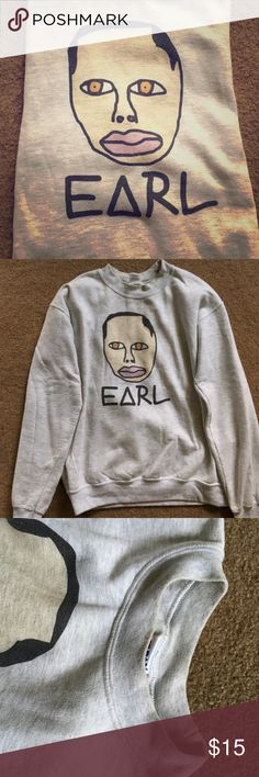 EARL Sweatshirt Crewneck OG EARL Sweatshirt Crewneck that I purchased at a show. Slight makeup stain on collar shown in picture #3, but nothing bad/noticeable Tops Sweatshirts & Hoodies
