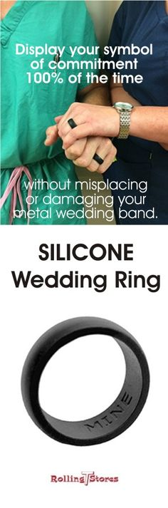 This replacement ring is made of top quality hypoallergenic food grade silicone. Extra comfortable fit, non-conductive and waterproof. No need to stop activity to remove or replace your ring. Safe for professionals at work. the Silicone Rings come in sizes 8-16