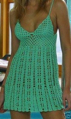 Fabulous Crochet a Little Black Crochet Dress Ideas. Georgeous Crochet a Little Black Crochet Dress Ideas. Crochet Skirts, Crochet Tunic, Crochet Clothes, Crochet Lace, Crochet Bikini, Chevron Crochet, Crochet Summer, Crochet Designs, Crochet Patterns