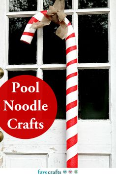 18 Pool Noodle Crafts Red And Gold Christmas Tree, Christmas Candy, Christmas Themes, Christmas Crafts, Christmas Decorations, Natural Christmas, Holiday Decorating, Christmas 2017, Christmas Christmas