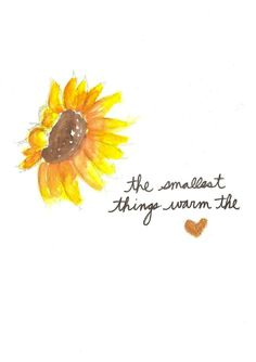 Cherish the small things, the big ones are seldom around.