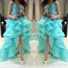 High Low Prom Dresses 2015 Mint Green Lace Top Ruffled Organza Sleeveless Sheer Neck College 8th Homecoming Dresses Hi-Lo Party Queen Gowns Online with $111.96/Piece on Sweet-life's Store | DHgate.com