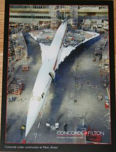 Concorde under construction at Filton postcard