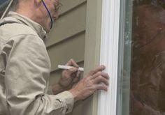 How to install new window trim.