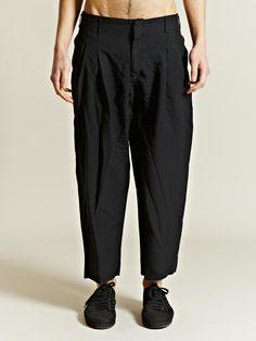 Comme Des Garcons Homme + Men's Cropped Ester Twill Trousers