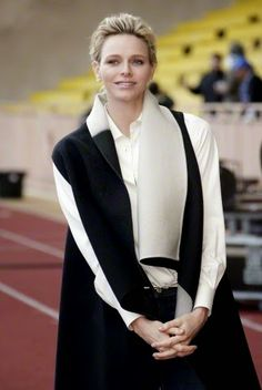 Princess Charlene of Monaco attends Sainte Devote rugby tournament in collaboration with Princess Charlene Foundation at Louis II Stadium in Monaco 11.04.2015.