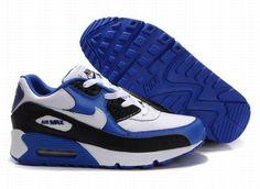 low priced f4dac 24e68 Nike Air Max 90 Royal Blue White Black