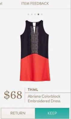 THML Abriana colorblock embroidered dress. Ask your stylist for an item like this today for your 2017 Spring Fix. ! #stitchfix #sponsored