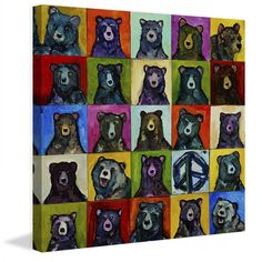"""Marmont Hill - """"Da Bears"""" by Tori Campisi Painting Print on"""