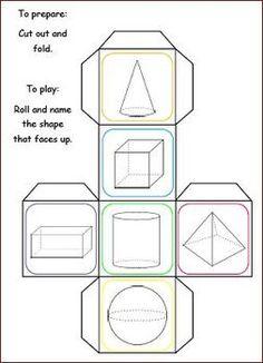 ee Shape Trivia Cubes With Worksheet Math Resources, Math Activities, Math Measurement, Primary Maths, 1st Grade Math, Homeschool Math, Elementary Math, Kindergarten Worksheets, Math Classroom