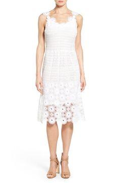 Elie Tahari 'Goranna' Cotton Lace Midi Dress