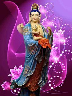 送子观音 | Mig_T_One | Flickr Buddha Temple, Buddha Art, Buddha Statues, Original Iphone Wallpaper, Goddess Art, Guanyin, Hindu Art, Gods And Goddesses, Buddhism