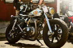 So this post is a request for information about the bike in this picture, we know it's a custom BSA and we know that it was taken by Brett Sloan Photography.