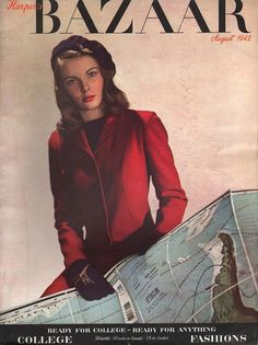 Photographed by Louise Dahl-Wolfe for Harper's Bazaar US August 1942