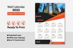 2022 Wall Calendar Design / Planer Table Calendar, Office Calendar, Business Calendar, Desk Calendars, Wall Calendar Design, Paper Size, Creative Business, Creative Design, Creative Calendar