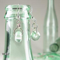 Recycled Glass Bottle Boho Drop Earrings