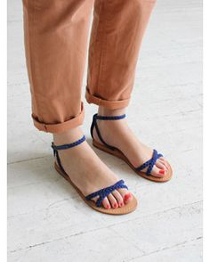 Blue sandal from Polder.