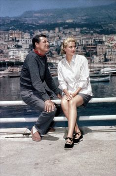 Image result for to catch a thief grace kelly and cary grant