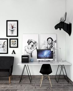 Scandinavian Home Office Furniture Workspace Inspiration, Room Inspiration, Interior Inspiration, Home Office Design, Home Office Decor, House Design, Office Designs, Office Ideas, Office Furniture