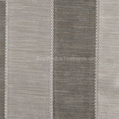 Tandora Stripe Drapery Curtain Panel in silver/slate grey color-  alternating tones of striated color blends in textured faux silk fabric.