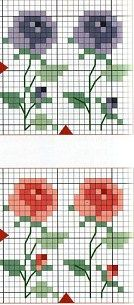 cross stitch chart/ could work for mittens...