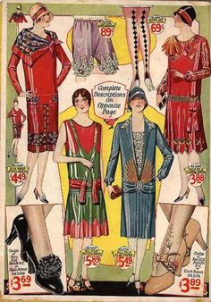 1920s Fashions. Look at those stockings!!!