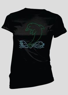 Dolphin Rhinestone TShirt by BellaBlingOnline on Etsy, $23.99