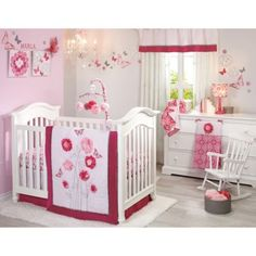NoJo® Butterfly Bouquet Crib Bedding Collection - buybuyBaby.com
