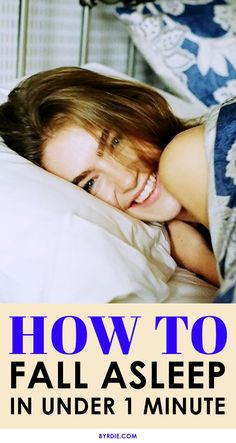 How To Fall Asleep Fast ( in under 1 minute )