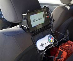 Emulator console for in the car. Great if you have kids or going on a road trip!